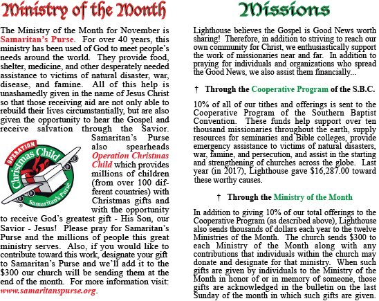 Ministry of the Month Template for WEBSITE